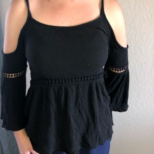 Open shoulder blouse